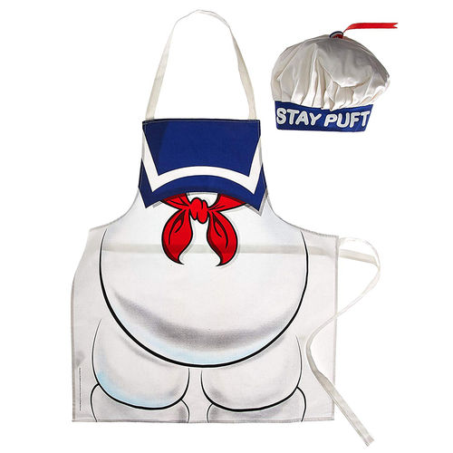 Ghostbusters - Stay Puft Apron Marshmallow Man & Chef Hat Set